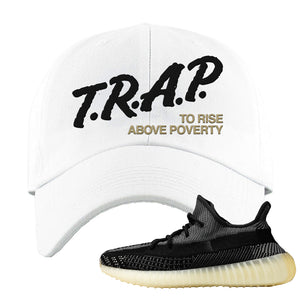 Yeezy Boost 350 v2 Carbon Dad Hat | Trap To Rise Above Poverty, White