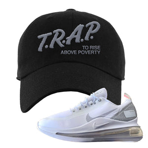 Air Max 720 Utility White Dad Hat | Black, Trap To Rise Above Poverty