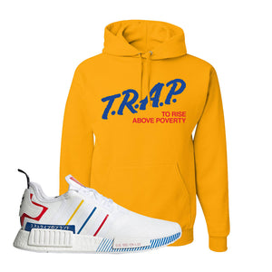 NMD R1 Olympic Pack Hoodie | Gold, Trap To Rise Above Poverty