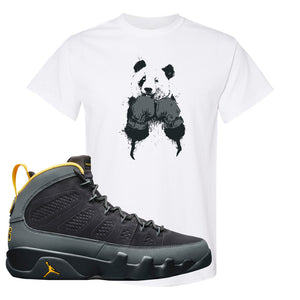 Air Jordan 9 Charcoal University Gold T Shirt | Boxing Panda, White