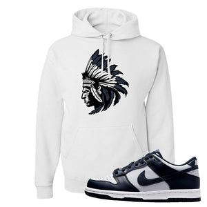 SB Dunk Low Georgetown Hoodie | Indian Chief, White