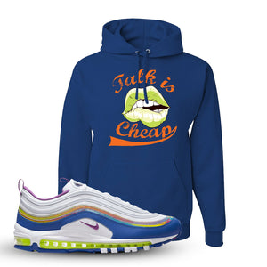 Air Max 97 'Easter' Sneaker Royal Pullover Hoodie | Hoodie to match Nike Air Max 97 'Easter' Shoes | Talk is Cheap