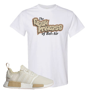 NMD R1 Chalk White Sneaker White T Shirt | Tees to match Adidas NMD R1 Chalk White Shoes | Fresh Princess Of Bel Air