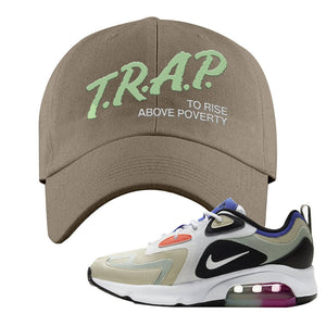Air Max 200 WMNS Fossil Sneaker Khaki Dad Hat | Hat to match Nike Air Max 200 WMNS Fossil Shoes | Trap To Rise Above Poverty
