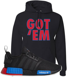 NMD R1 Black Red Boost Matching Hoodie | Sneaker hoodie to match NMD R1s | Got Em, Black