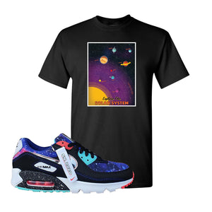 Air Max 90 Galaxy T Shirt | Black, Vintage Space Poster
