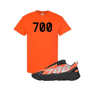 700 Orange Kid's T-Shirt to match Yeezy Boost 700 MNVN Orange Sneaker