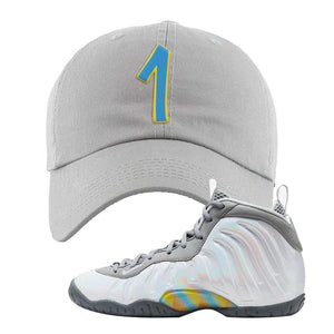 Lil Posite One Rainbow Pixel Dad Hat | Light Gray, Penny One