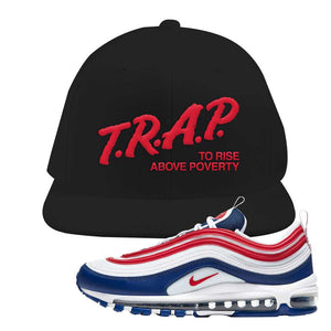 Air Max 97 USA Snapback Hat | Black, Trap To Rise Above Poverty
