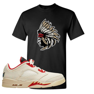 Air Jordan 5 Low Chinese New Year 2021 T Shirt | Indian Chief, Black