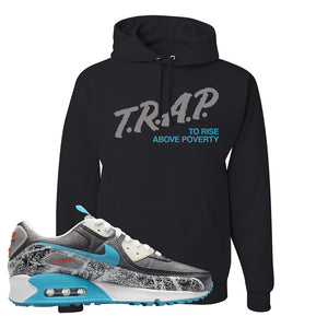 Air Max 90 Rice Ball Hoodie | Trap To Rise Above Poverty, Black
