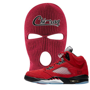 Air Jordan 5 Raging Bull Ski Mask | Chiraq, Red