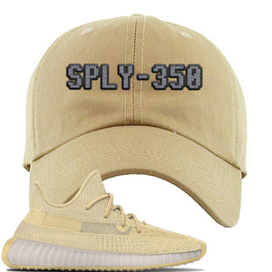 Yeezy Boost 350 V2 Flax Sneaker Khaki Dad Hat | Hat to match Adidas Yeezy Boost 350 V2 Flax Shoes | Sply-350