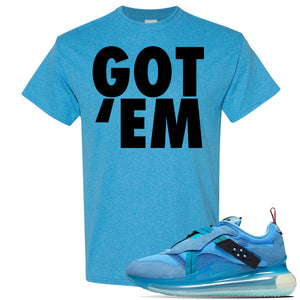 Air Max 720 OBJ Slip Light Blue T Shirt | Heather Sapphire, Got Em