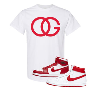 Jordan 1 New Beginnings Pack Sneaker White T Shirt | Tees to match Nike Air Jordan 1 New Beginnings Pack Shoes | OG