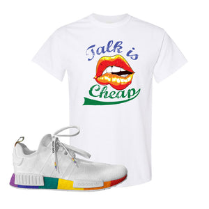 NMD R1 Pride T Shirt | White, Talk Is Cheap