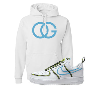 Air Force 1 '07 PRM 'Worldwide Pack' Hoodie | White, OG