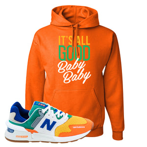 997S Multicolor Sneaker Safety Orange Pullover Hoodie | Hoodie to match New Balance 997S Multicolor Shoes | It's All Good Baby Baby
