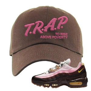 Air Max 95 Cuban Links Dad Hat | Brown, Trap To Rise Above Poverty