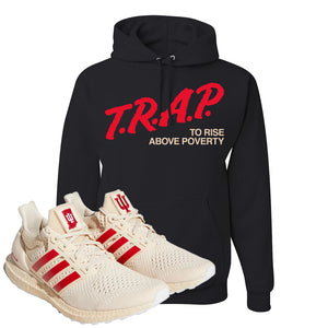 Adidas Ultra Boost 1.0 Indiana Pullover Hoodie | Trap To Rise Above Poverty, Black