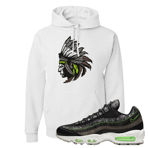 Air Max 95 Black / Electric Green Hoodie | Indian Chief, White