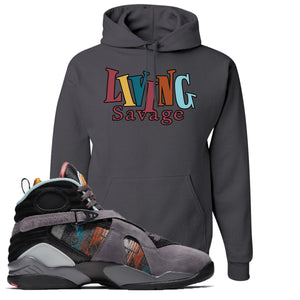 Air Jordan 8 N7 Hoodie | Charcoal Gray, Living Savage