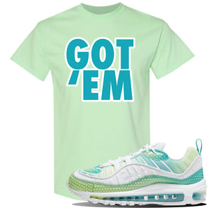 WMNS Air Max 98 Bubble Pack Sneaker Mint Green T Shirt | Tees to match Nike WMNS Air Max 98 Bubble Pack Shoes | Got Em