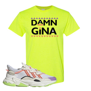 Ozweego Chaos T Shirt | Safety Green, Damn Gina