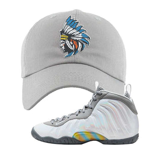 Lil Posite One Rainbow Pixel Dad Hat | Light Gray, Indian Chief