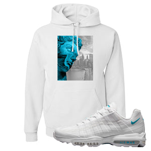 Air Max 95 Ultra White Glacier Blue Hoodie | Miguel, White