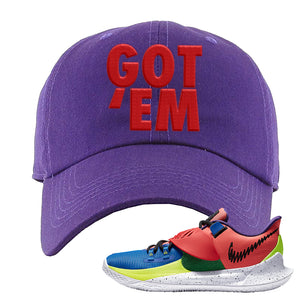 Kyrie Low 3 NY vs NY Dad Hat | Got Em, Purple
