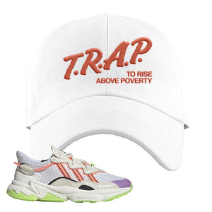 Ozweego Chaos Dad Hat | White, Trap To Rise Above Poverty
