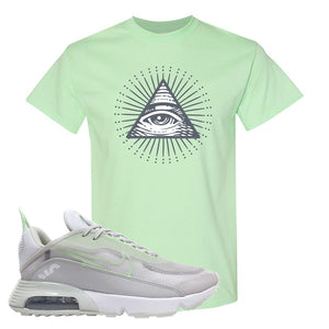 Air Max 2090 'Vast Gray' T Shirt | Mint Green, All Seeing Eye