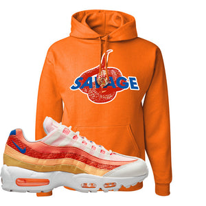Air Max 95 Orange Snakeskin Hoodie | Savage Snake, Orange