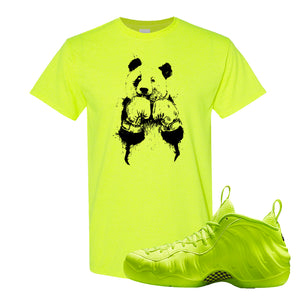 Air Foamposite Pro Volt T Shirt | Boxing Panda, Safety Green