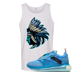 Air Max 720 OBJ Slip Light Blue Tank Top | White, Indian Chief