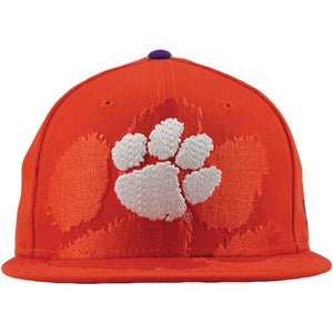Clemson Tigers XL Logo Spill Orange 9Fifty Snapback Hat