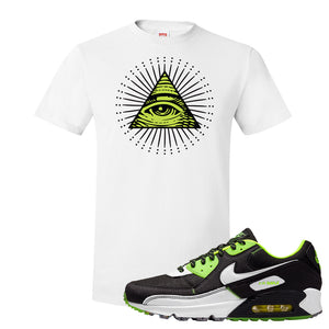 Air Max 90 Exeter Edition Black T Shirt | All Seeing Eye, White