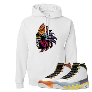 Air Jordan 9 Change The World Hoodie | Indian Chief, White