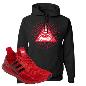 Ultra Boost 1.0 Nebraska Hoodie | All Seeing Eye, Black
