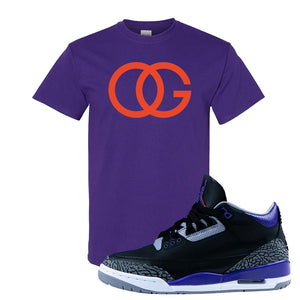 Air Jordan 3 Court Purple T Shirt | OG, Purple