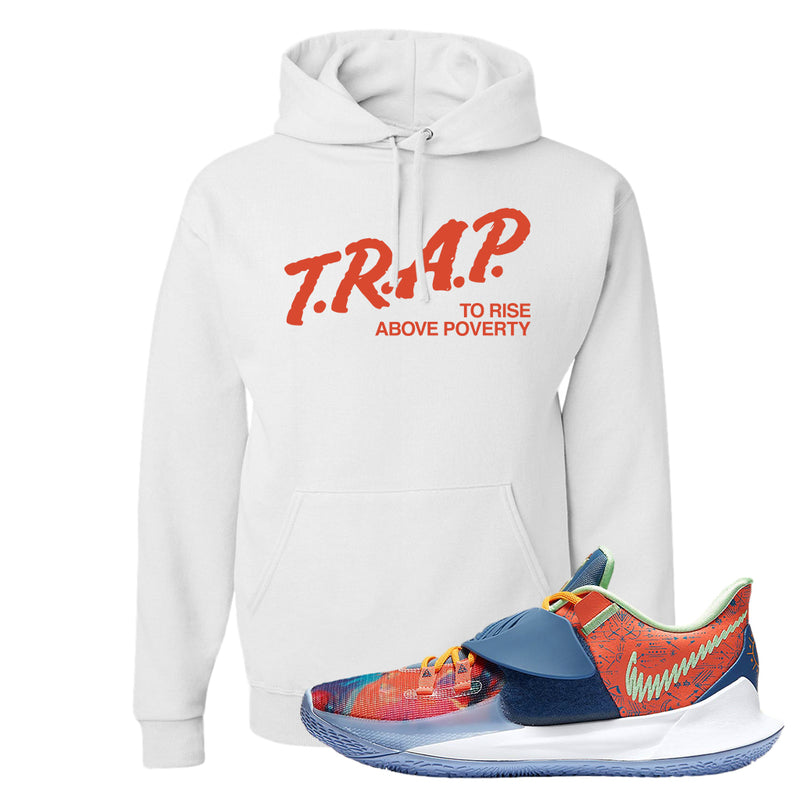 Kyrie Low 3 Ancient Symbols Hoodie | Trap To Rise Above Poverty, White