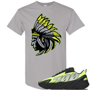 Yeezy 700 MNVN Phosphor T Shirt | Indian Chief, Gravel