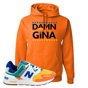 997S Multicolor Sneaker Safety Orange Pullover Hoodie | Hoodie to match New Balance 997S Multicolor Shoes | Damn Gina