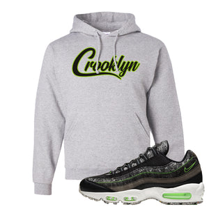 Air Max 95 Black / Electric Green Hoodie | Crooklyn, Ash