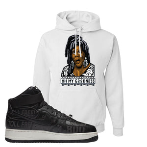 Air Force 1 High Hotline Hoodie | Oh My Goodness, White