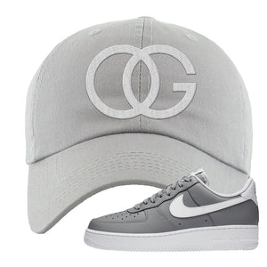 Air Force 1 Low Wolf Grey White Dad Hat | Light Gray, OG