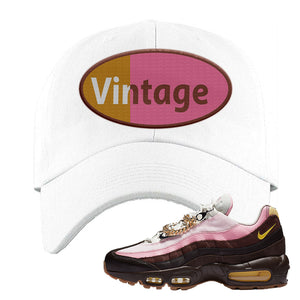 Air Max 95 Cuban Links Dad Hat | White, Vintage Oval
