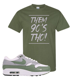 Air Max 1 Spiral Sage T-Shirt | Them 90s Tho, Military Green