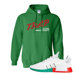 NMD R1 V2 Ciudad De Mexico Hoodie | Irish Green, Trap To Rise Above Poverty